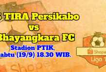 Prediksi PS TIRA Persikabo vs Bhayangkara FC, 19 September 2019
