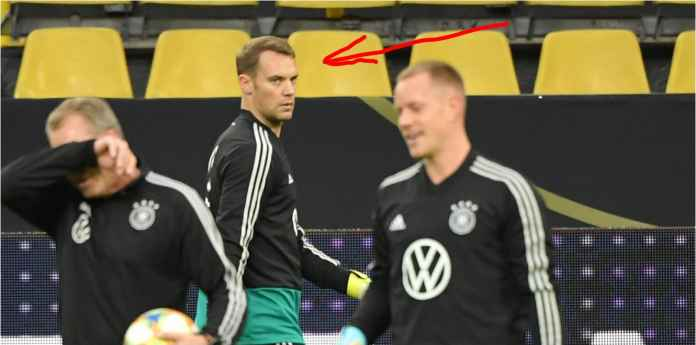 Lihat Tatapan Benci Kiper Jerman Manuel Neuer kepada Ter Stegen