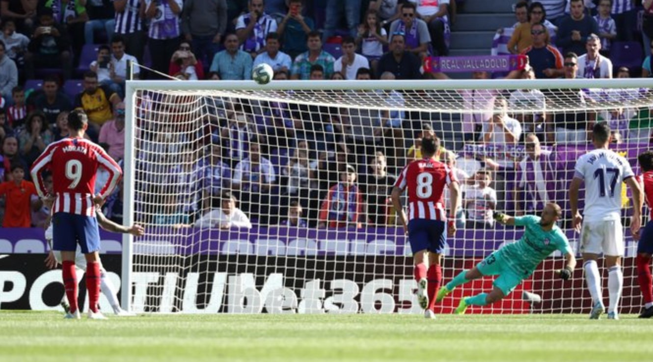 Penalti Sandro Ramirez - Real Valladolid vs Atletico Madrid