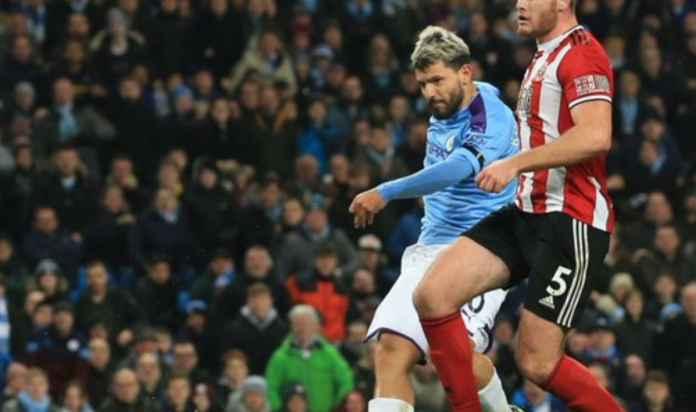 Hasil Manchester City vs Sheffield United di Liga Ingris - Sergio Aguero