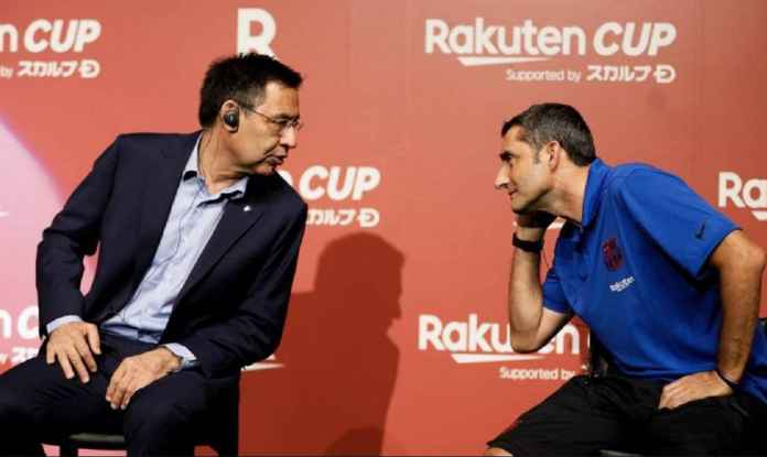 Barcelona Persingkat Jabatan Ernesto Valverde Tiga Tahun Saja