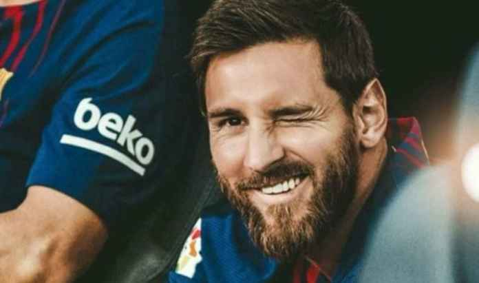 Lionel Messi mencetak rekor hat-trick Liga Spanyol di Barcelona v Mallorca