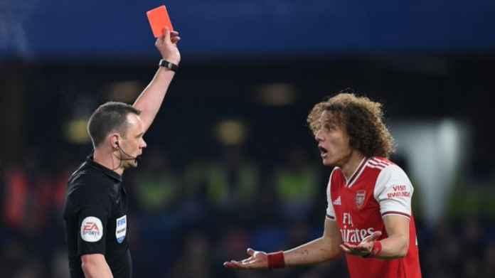 Hasil Chelsea vs Arsenal di Liga Inggris - David Luiz Kartu Merah