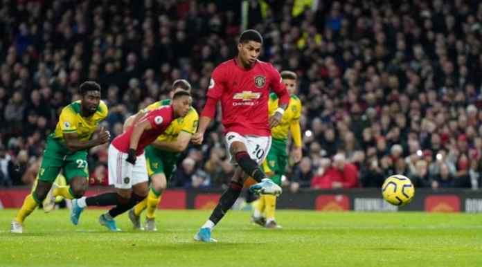 Hasil Manchester United vs Norwich City - Marcus Rashford
