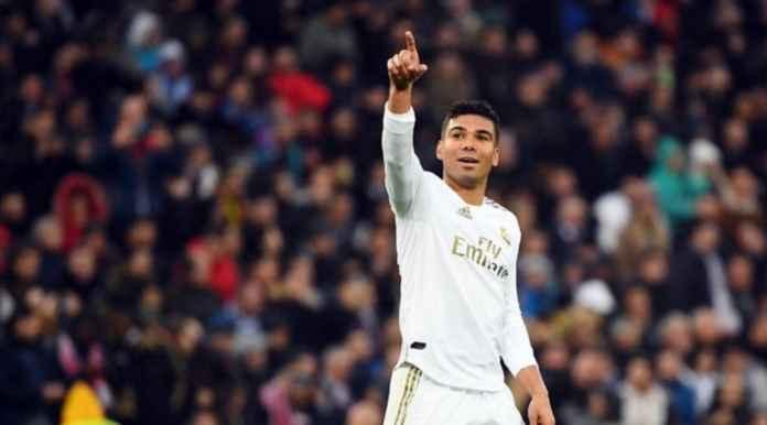 Hasil Real Madrid vs Sevilla di Liga Spanyol - Casemiro