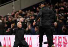 Jose Mourinho saat laga antara Tottenham Hotspur vs Liverpool