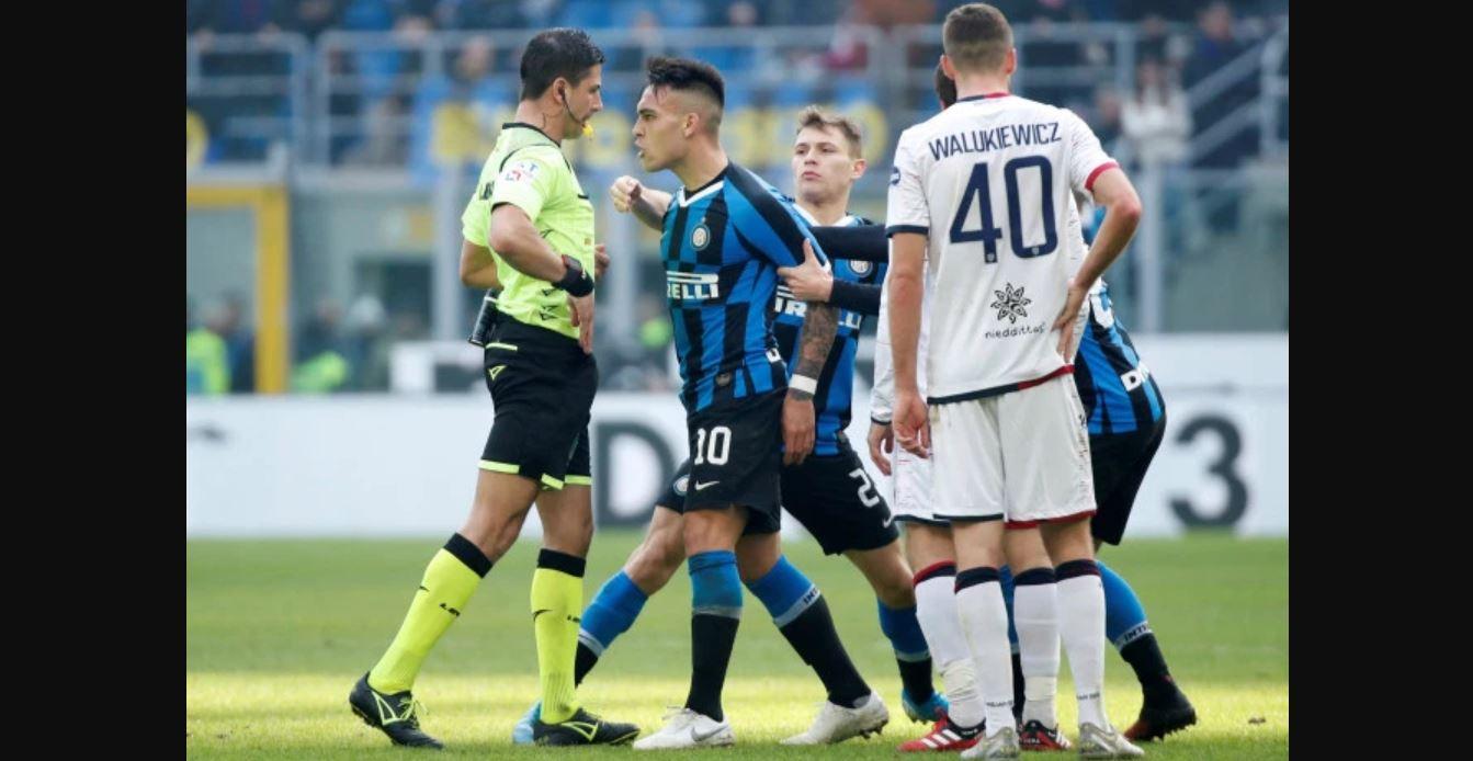 Wasit Inter vs Cagliari Memang Memihak Juventus, L