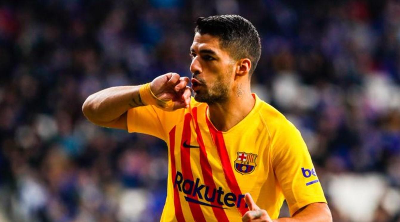 Luis Suarez cetak gol - Espanyol vs Barcelona