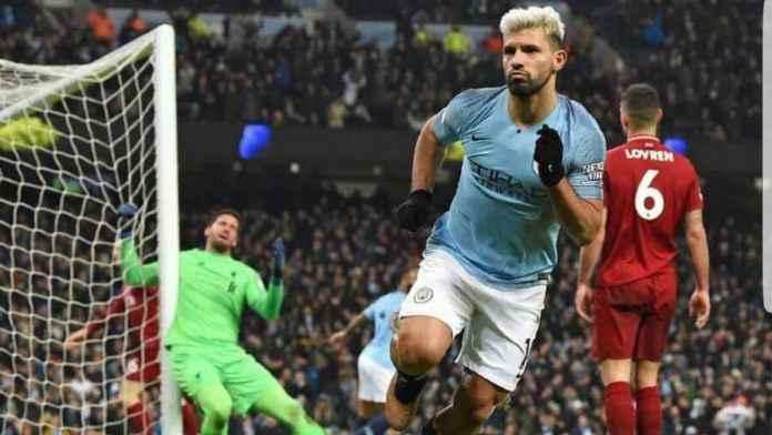 Sergio Aguero striker Manchester City