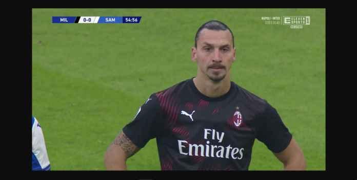 Zlatan Ibrahimovic 35 Menit, Milan 0-0 Lawan Sampdoria