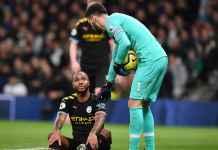 Cedera pemain Manchester City - Raheem Sterling