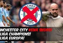 Manchester City Dilarang Main Liga Champions-Pep Guardiola Sergio Aguero Kevin De Bruyne - featured