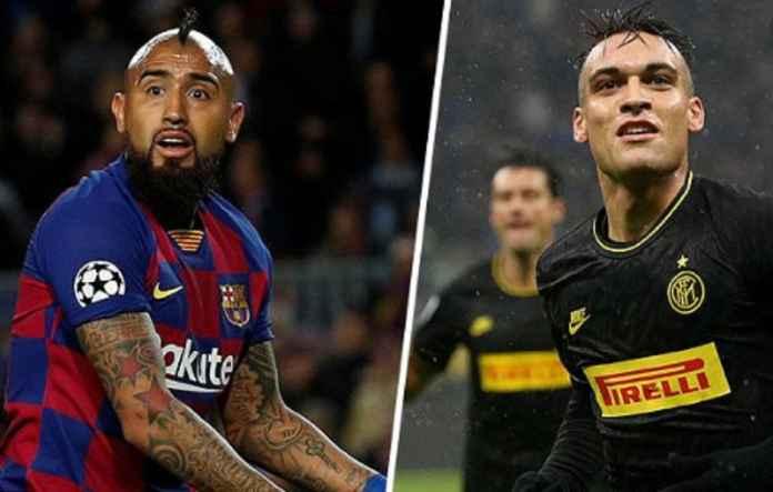 Barcelona Sodorkan Arturo Vidal ke Inter Demi Gaet Lautaro Martinez