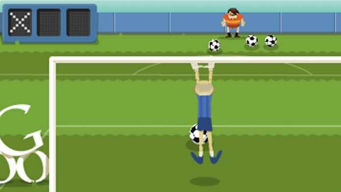 Game Sepak Bola di Google Doodle