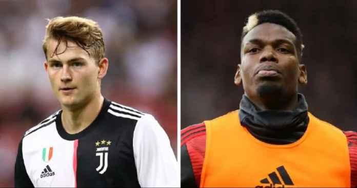 Manchester United Siap Barter Paul Pogba dengan Matthijs de Ligt