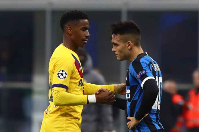 Junior Firpo dan Lautaro Martinez