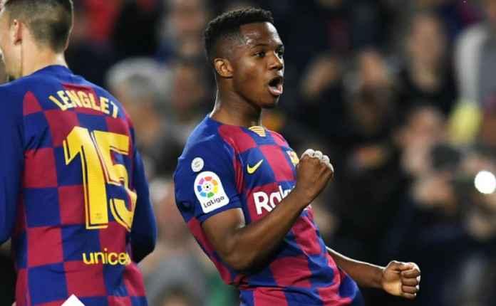 Cedera Lutut, Latihan Barcelona Minus Ansu Fati