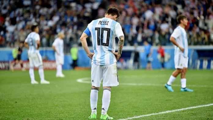 Lionel Messi bersama skuad Timnas Argentina