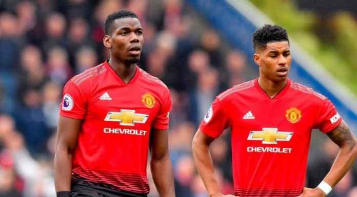 Paul Pogba dan Marcus Rashford pemain Manchester United