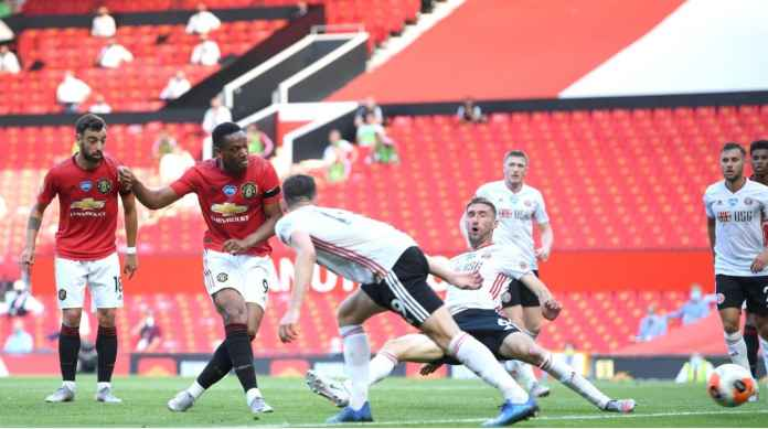 Hasil Manchester United vs Sheffield, Martial Tenggelamkan Pogba-Bruno