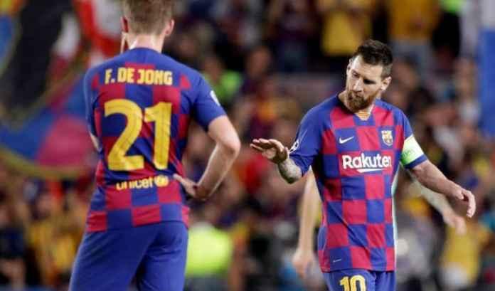 Frankie de Jong dan Lionel Messi, Barcelona