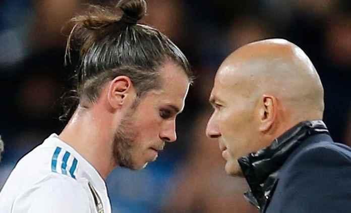 Gareth Bale dan manajer Real Madrid Zinedine Zidane