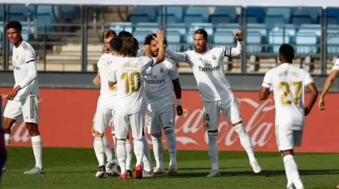 Hasil Liga Spanyol antara Real Madrid vs Eibar ditutup dengan skor akhir 3-1