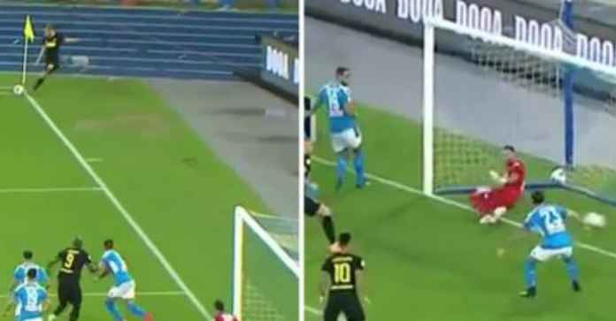 Hasil Napoli vs Inter Milan di Coppa Italia, gol sepak pojok Christian Eriksen