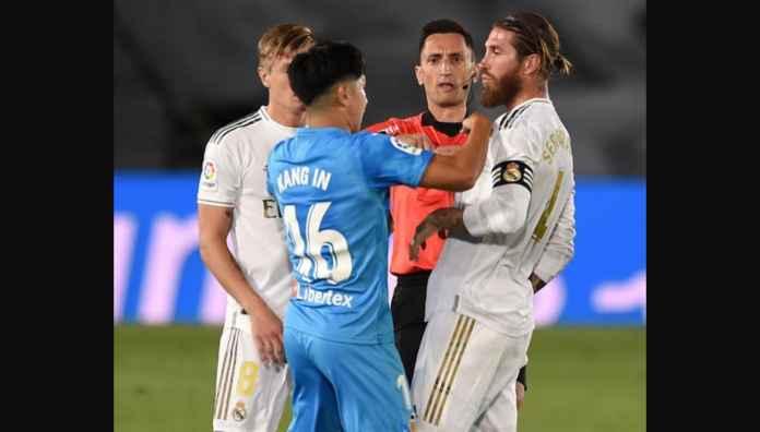 Lihat Kapten Real Madrid DItendang Empat Kali Oleh Pemain Korea Ini