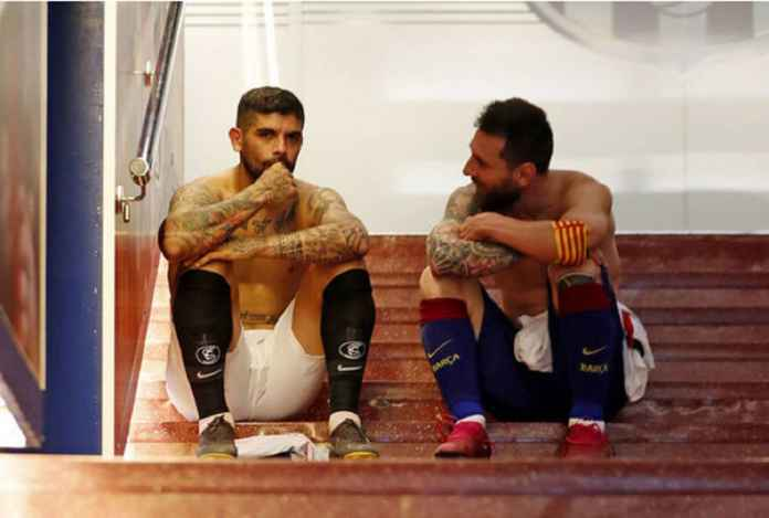 Sevilla vs Barcelona: Momen Perpisahan Lionel Messi dan Ever Banega
