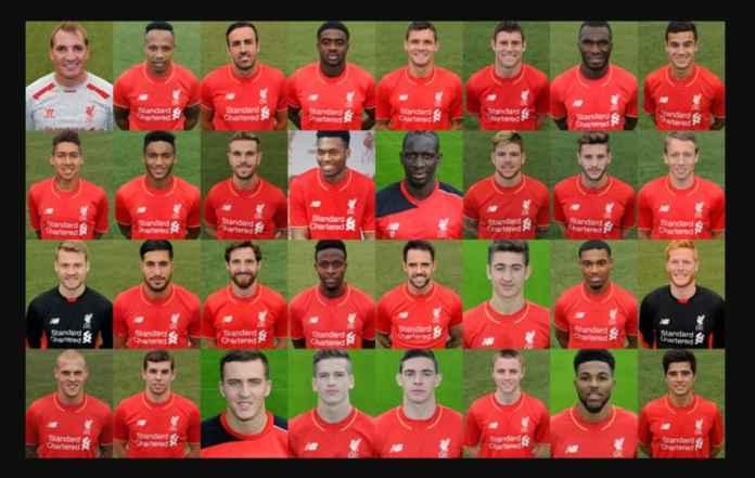 Skuad Liverpool musim 2015-2016 awal kepemimpinan Jurgen Klopp