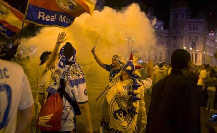 Fans Real Madrid disarankan untuk tidak merayakan pesta gelar juara di jalanan