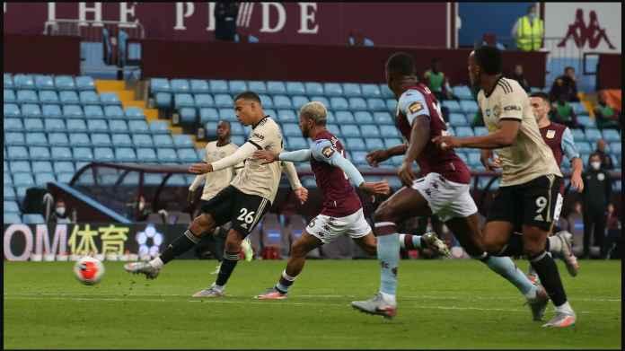 Hasil Aston Villa vs Manchester United, Dua Gol Hebat Greenwood, Pogba