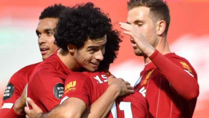 Hasil Liga Inggris Liverpool vs Aston Villa - Curtis Jones