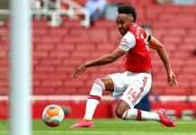 Hasil pertandingan Liga Inggris antara Arsenal vs Norwich City, Pierre-Emerick Aubameyang