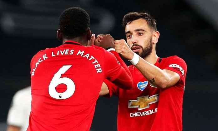 Paul Pogba dan Bruno Fernandes - Manchester United