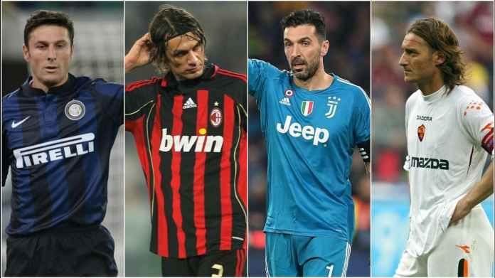 Daftar 4 Starter Terbanyak Liga Italia, Legenda Besar Semua!