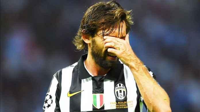 Sesak Dada Andrea Pirlo, Gajinya Kalah Dari Semua Pemain Juventus