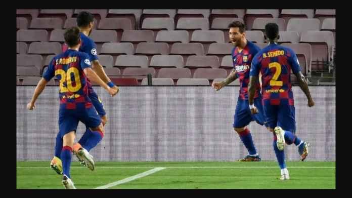 Satu Gol Satu Penalti Messi Bawa Barcelona Lolos 13 Musim Beruntun