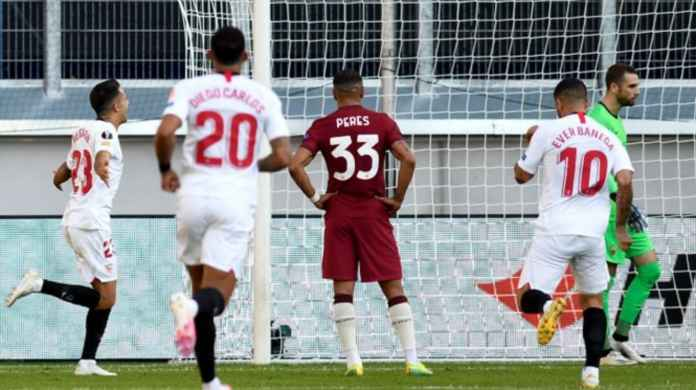Hasil LIga Europa - Hasil Sevilla vs AS Roma Tadi Malam