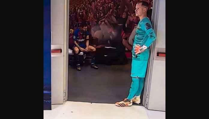 Lihat Foto Messi Patah Hati di Kamar Ganti, Merenungkan Klub Berikutnya