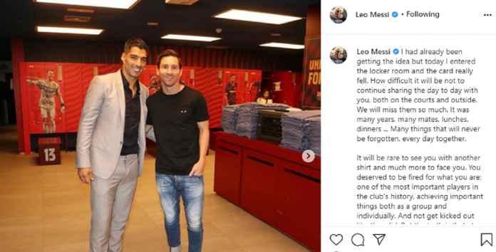 Lionel Messi menyindir bagaimana Barcelona menendang Luis Suarez