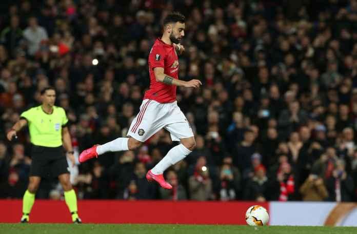 Pemain Manchester United Bruno Fernandes dibilang hanya jagoan penalti