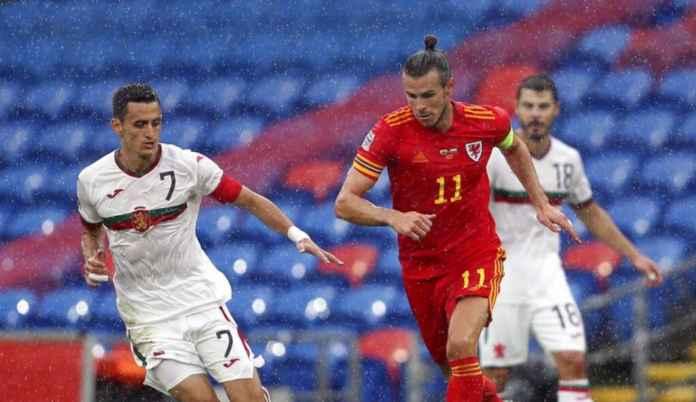 Timnas Wales saat melawan Bulgaria dan sang kapten Gareth Bale beraksi