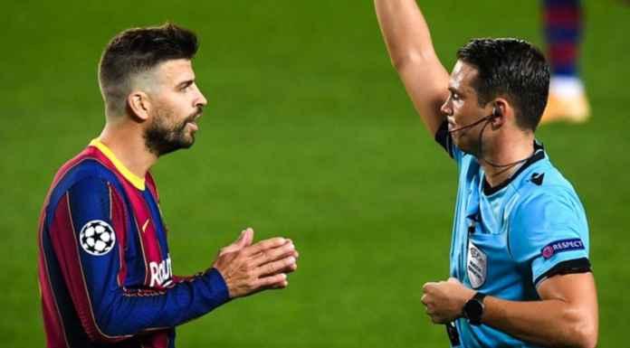 Hasil Barcelona vs Farencvaros di Liga Champions - Gerard Pique Kartu Merah