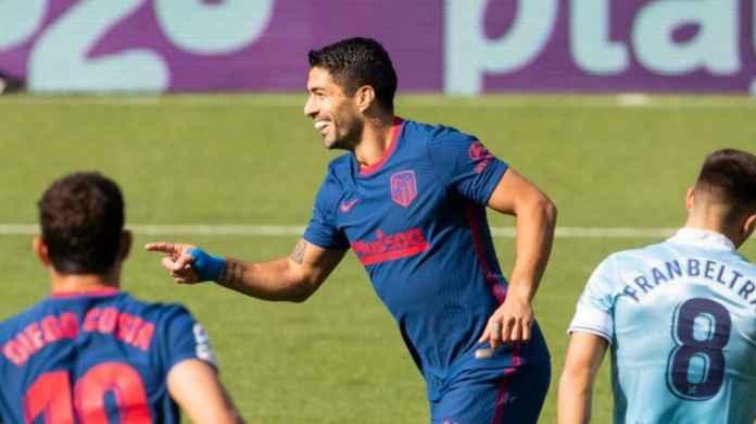 Hasil Celta Vigo vs Atletico Madrid di Liga Spanyol, Luis Suarez cetak gol cepat
