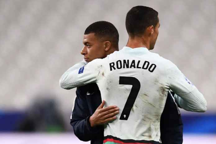 Kylian Mbappe dan Cristiano Ronaldo di ajang UEFA Nations League