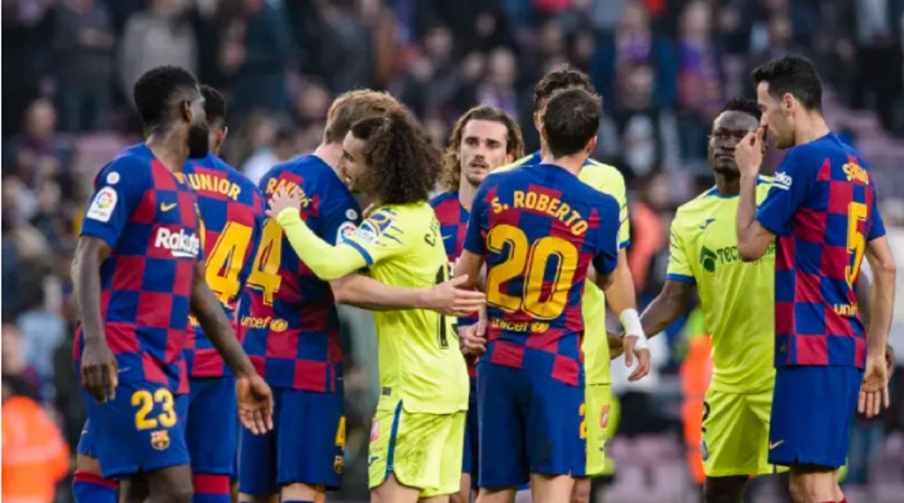 Barcelona 2-2 Getafe: Barcelona title hopes effectively ...  |Getafe- Barcelona