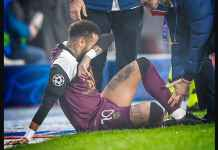 Neymar Cedera Pada Babak Pertama Istanbul Basaksehir vs PSG