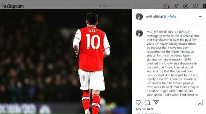 Dibekukan Arsenal Di Liga Europa & EPL, Mesut Ozil : Loyalitas Yang Tak Dihargai!